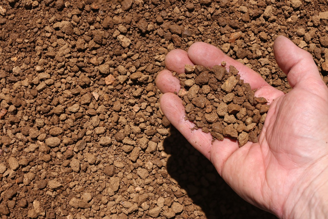 brown granite pathway material